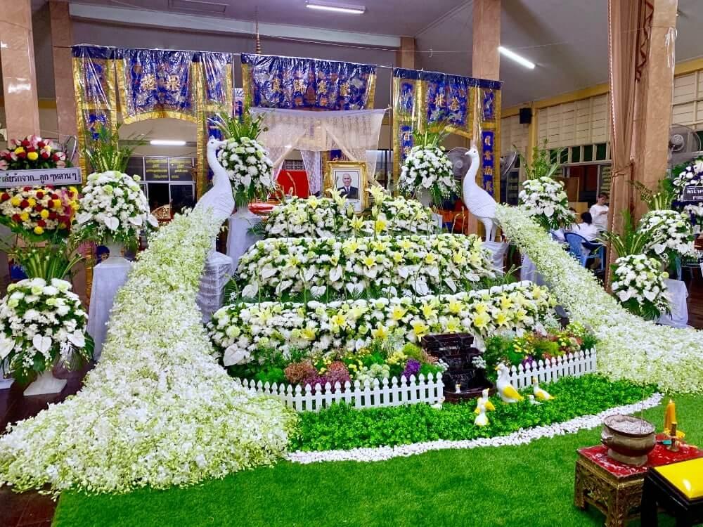 รับจัดงานศพ จัดดอกไม้หน้าศพ ดอกไม้งานศพนครปฐม