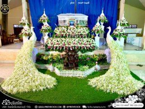 ดอกไม้งานศพ อ.ปากท่อ จ.ราชบุรี ณ วัดวันดาว